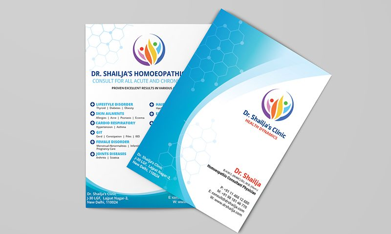 Elegant Brochure for Dr Shailja Homeopathy Clinic Design