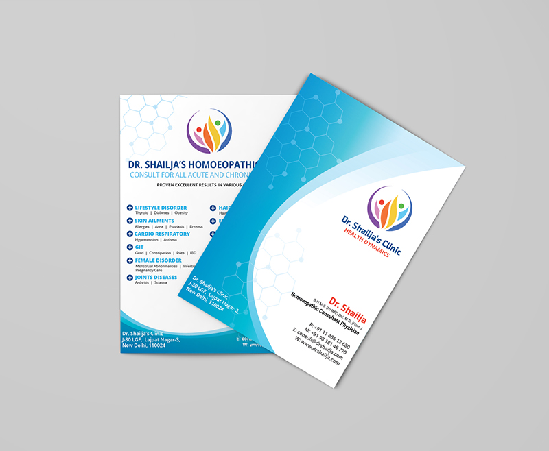 Elegant Brochure for Dr Shailja Homeopathy Clinic Design